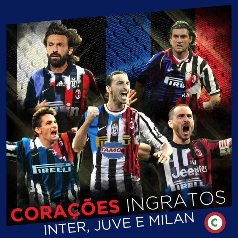 7cd70799b4 Os 11 jogadores que vestiram as camisas dos três gigantes do futebol  italiano